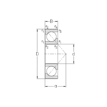 7204-BECB-MP NKE Angular Contact Ball Bearings