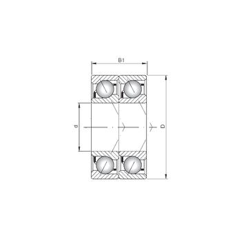 7207 BDT ISO Angular Contact Ball Bearings