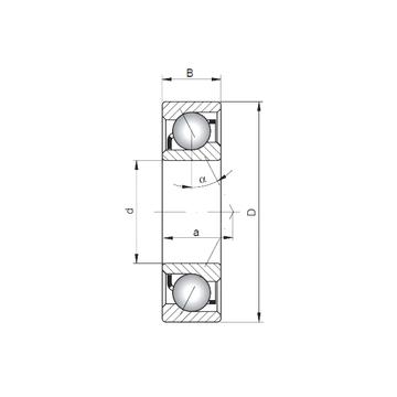 7301 A ISO Angular Contact Ball Bearings