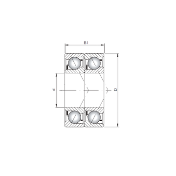 7303 B-UD CX Angular Contact Ball Bearings