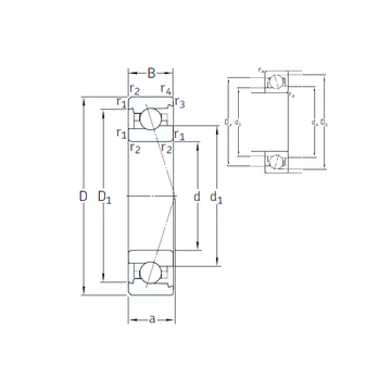 VEX 15 /NS 7CE3 SNFA Angular Contact Ball Bearings