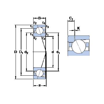 7038 CD/HCP4AH1 SKF Angular Contact Ball Bearings