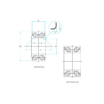 40BWD16 NSK Angular Contact Ball Bearings