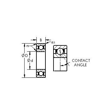 7018AC AST Angular Contact Ball Bearings