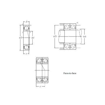 7204BDF NTN Angular Contact Ball Bearings #1 image